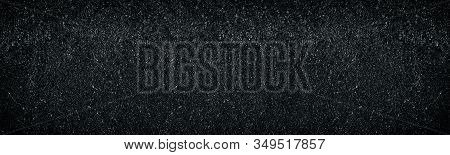 Wide Dark Weathered Concrete Wall Texture. Abstract Widescreen Background
