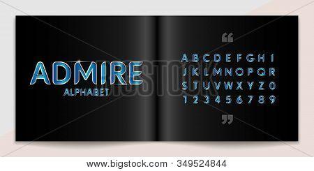 Metal Font And Alphabet Set. Lettering Design For Magazine, Poster, Logo Or Advertising Media. Typog