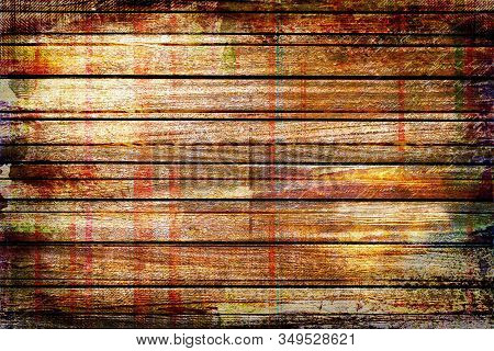 Brown And Red, White,multicolor, Wooden Wall Background, With Rustic,grunge  Rough Texture With Grap