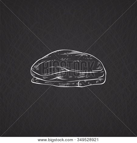 Engraved On A Black Background Fillet, Sirloin And Loin Of Pork Or Beef.