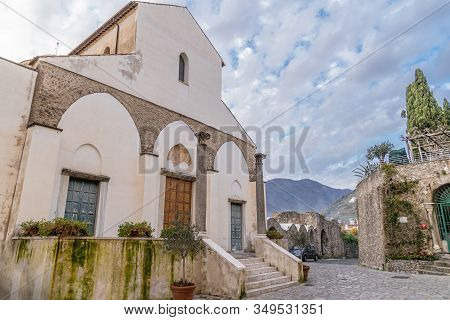 The Church Of San Giovanni In Ravello, Amalfi Coast, Italy. The Church Is The Place Where The Nobili