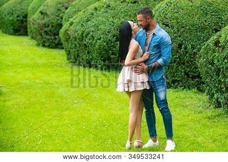 Couple Sensual. Expressing Care And Endearment. I Love You. Sensual Couple Enjoying Intimacy. Sensua