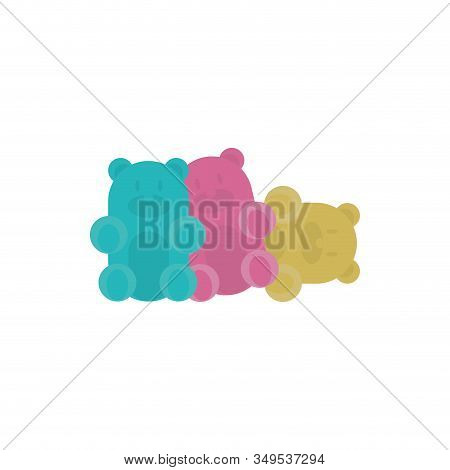 Sweet Gummi Bears Design, Dessert Food Delicious Sugar Snack And Tasty Theme Vector Illustration