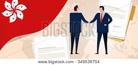 Hongkong International Partnership Bilateral Cooperation Deals. Relationship And Trade Deals Busines