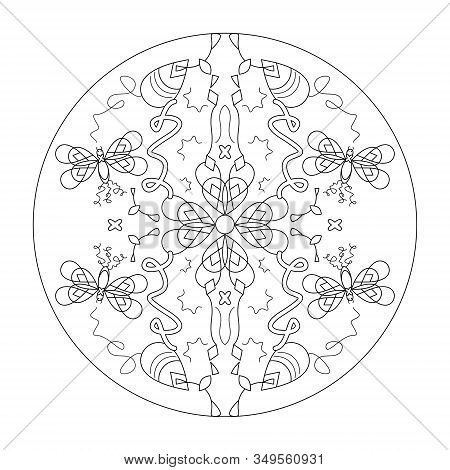 Flower Mandala-Coloring page-Adult coloring-art-therapy-pdf ... | 470x450