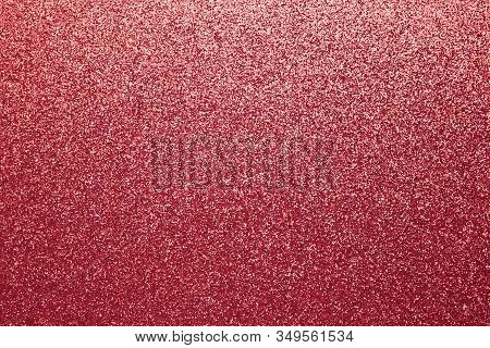 Shiny Red Fabric. Shimmering Sequin Texture. Abstract Sparkle Cloth, Pattern. Brilliance Textile Bac