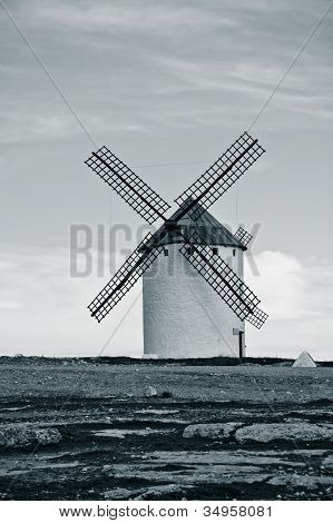 Old Spanish Windmill. Toned Image