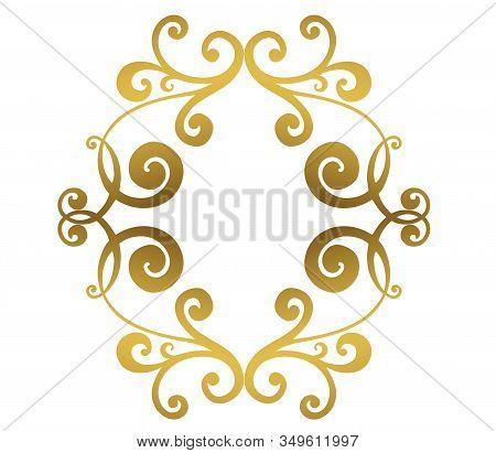 Vintage Baroque Ornament. Retro Pattern Antique Style Acanthus. Ornamental Border