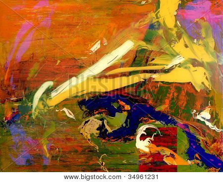 Very Large scale abstract Original Oil on canvas poster