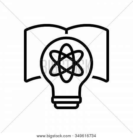 Black Line Icon For Physics Model Technology Education Bulb Molecules Molecule Chemistry Atom Nucleu