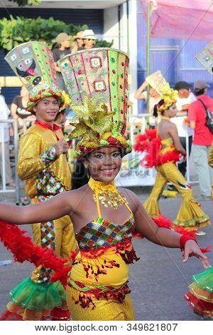 Barranquilla, Colombia - Feb 10: Carnaval Del Bicentenario 200 Years Of Carnaval. February 10, 2013