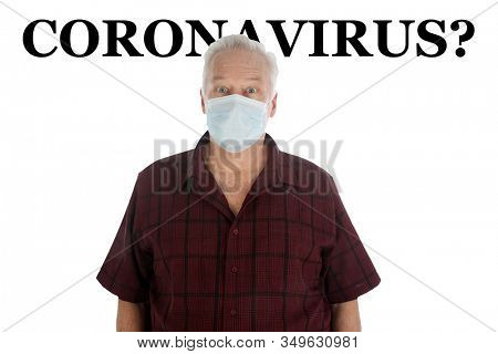 2019 Novel Coronavirus. 2019-nCoV. Wuhan, China 2019 Novel Coronavirus. A hospital patient wearing a paper mask is scared of contracting the CORONAVIRUS. Room for text. Protect yourself today.