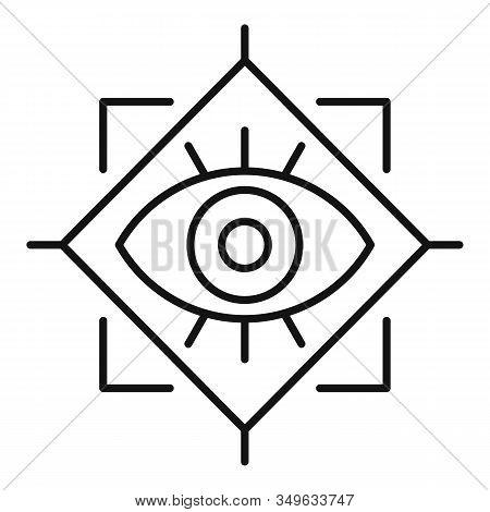Spiritual Eye Icon. Outline Spiritual Eye Vector Icon For Web Design Isolated On White Background