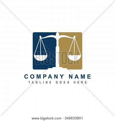 Law Firm Logo Design Inspiration. Vector Illustration