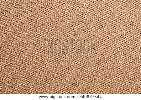 Texture Of Burlap, Brown Woven Fabric Background. Sackcloth Surface, Sacking Material, Bagging Texti