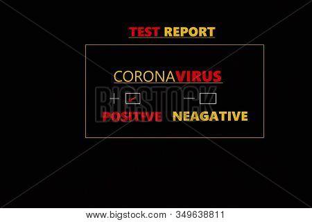 Abstract Background Of Coronavirus, Coronavirus Positive Medical Blood Test Report Result, China Chi
