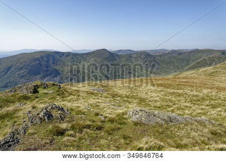 View From Kentmere Pike To Rainsborrow Crag, Yoke (706m Centre) & Ill Bell (757m Centre) And Froswic