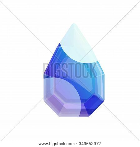 Blue Gem Icon. Cartoon Of Blue Gem Vector Icon For Web Design Isolated On White Background