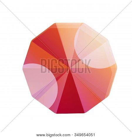 Carat Ruby Icon. Cartoon Of Carat Ruby Vector Icon For Web Design Isolated On White Background