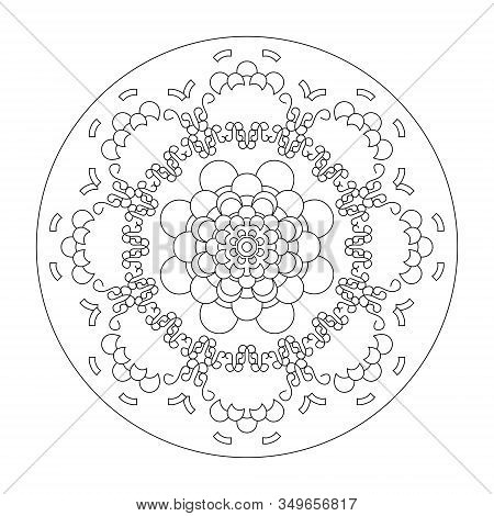 Mandala Coloring Page, Illustration Vector. Art Therapy. Decorative Element.
