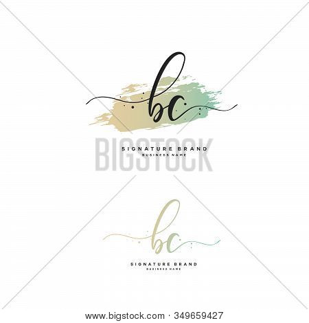 B C Bc Initial Letter Handwriting And  Signature Logo. A Concept Handwriting Initial Logo With Templ