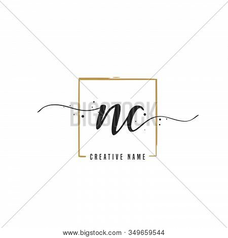 N C Nc Initial Letter Handwriting And  Signature Logo. A Concept Handwriting Initial Logo With Templ