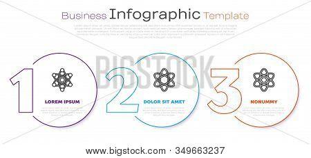 Set Line Atom, Atom And Atom. Business Infographic Template. Vector