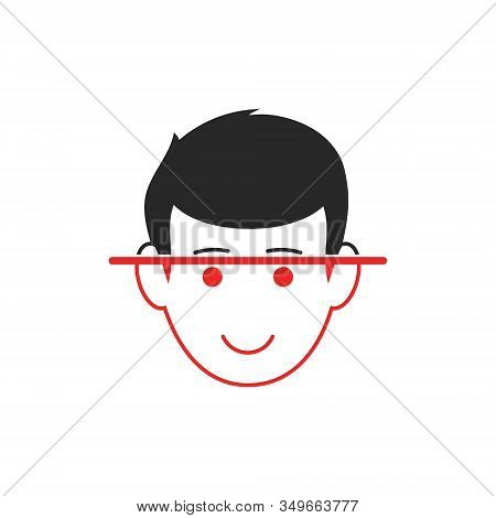 Facial Identify Isolated Vector Illustration. Simple Icon Design.