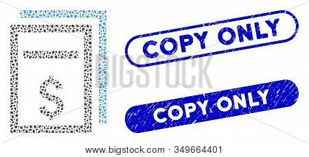 Mosaic Price Copy Page And Corroded Stamp Seals With Copy Only Text. Mosaic Vector Price Copy Page I