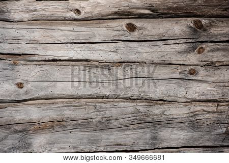 Old, Untreated, Grey Wood Wall From The 1800s