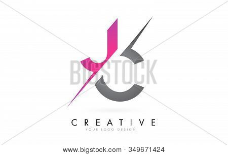 Jc J C Letter Logo With Color Block Design And Creative Cut. Creative Logo Design.