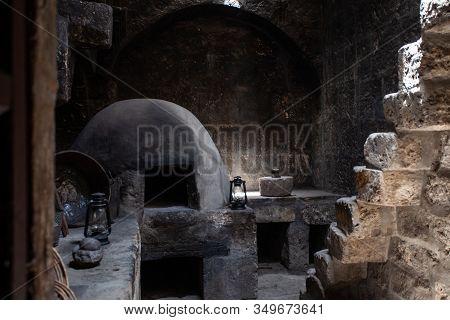 Dark Old Kitchen In Monastery Santa Catalina, Arequipa, Peru
