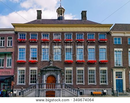 Front Exterior Of The City Hall Of Breda, Grote Markt In The Center Of Breda, The Netherlands, 17 Ju
