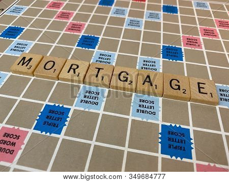 Mortgage Word Scrabble Tiles