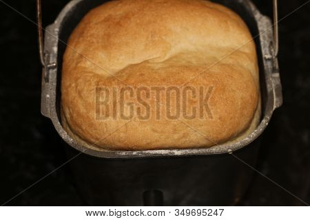 Proved Dough Of Rye And Leaven Close-up