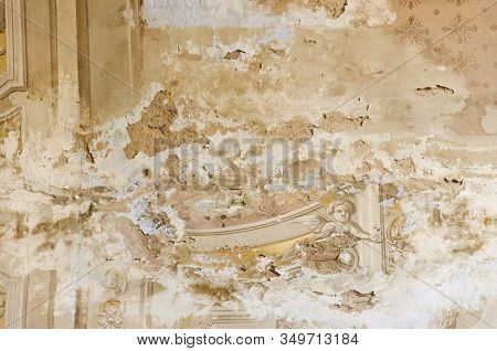 Magdalena, Buenos Aires / Argentina; Jan 7, 2016: Detail Of Santa Maria Magdalena Parish, Deteriorat