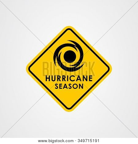 Hurricane Season Icon Logo Design. Vector Illustration