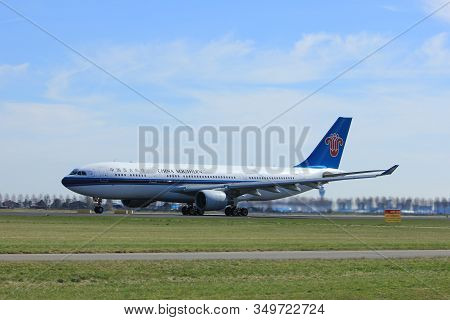 Amsterdam The Netherlands - March 25th, 2017: B-6548 China Southern Airlines Airbus A330-200  Takeof