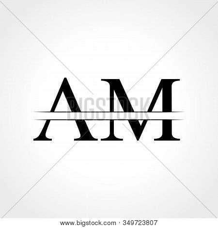 Initial Am Letter Logo With Creative Modern Business Typography Vector Template. Creative Abstract L