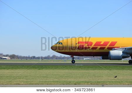 Amsterdam The Netherlands - May 6th, 2017:  Takeoff From Polderbaan Runway, Amsterdam Schiphol Airpo