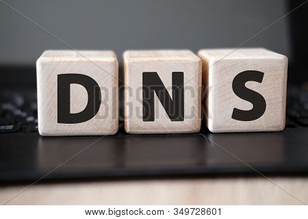 Dns - Acronym Domain Name System Concept On Cubes