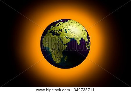 Global Warming Of Planet Earth. To Save The World From Environmental Destruction. The Concept Of Cli