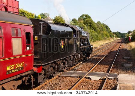 Appleby, England - August 25:  Preserved Stanier Class 8f Steam Locomotive Number 48151 Pictured In