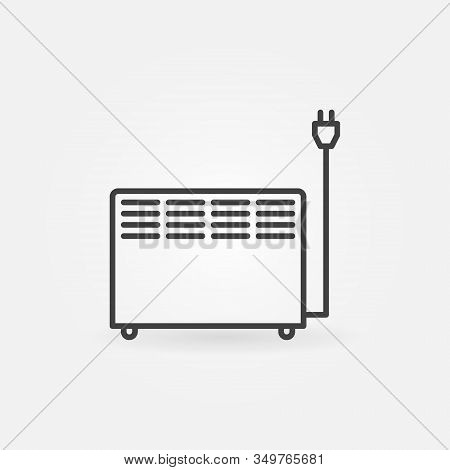 Electric Convector Heater Vector Concept Outline Icon Or Symbol