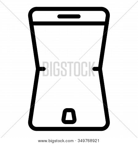 Flexible Screen Element Icon. Outline Flexible Screen Element Vector Icon For Web Design Isolated On
