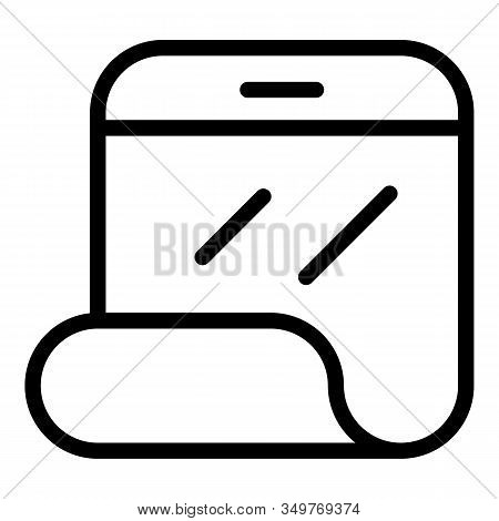 Flex Smartphone Display Icon. Outline Flex Smartphone Display Vector Icon For Web Design Isolated On