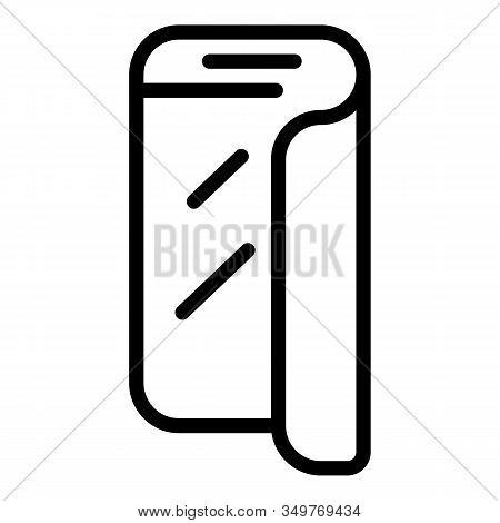 Flex Smartphone Screen Icon. Outline Flex Smartphone Screen Vector Icon For Web Design Isolated On W