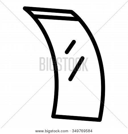 Smart Flex Screen Icon. Outline Smart Flex Screen Vector Icon For Web Design Isolated On White Backg