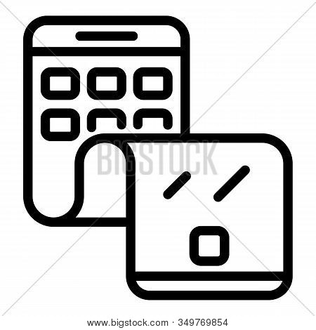Flex Phone Cellular Icon. Outline Flex Phone Cellular Vector Icon For Web Design Isolated On White B