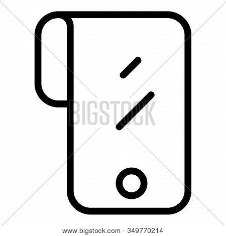 Futuristic Flex Screen Icon. Outline Futuristic Flex Screen Vector Icon For Web Design Isolated On W